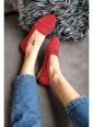 Topukla Kadın Ip Örgü Babet 79 222 Kırmızı